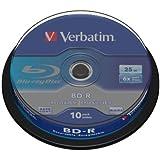 Verbatim 43742 BD-R Single Layer Blu-Ray Rohlinge (25 GB, 6x 10er Spindel)