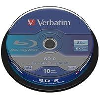 Verbatim 43742 - Disco BD-R de 25 GB, 6x