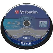 Verbatim 405425 - Discos Blu-Ray vírgenes (10 unidades, 25 GB)