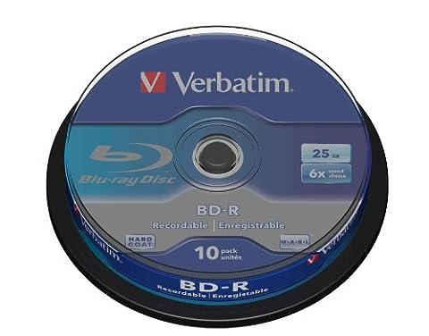 Verbatim 43742 BD-R Single Layer Blu-Ray Rohlinge (25 GB, 6x 10er Spindel) (Bd-r Rohlinge)