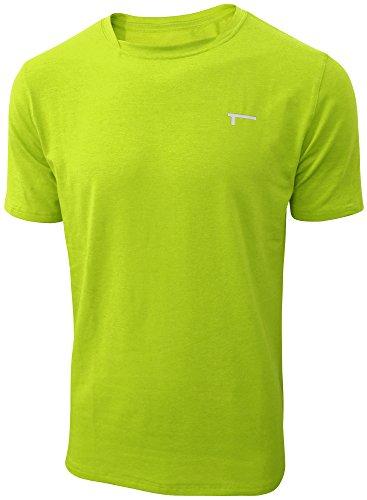Ss-stretch-shirt (TREN Herren COOL Performance Cotton Stretch SS Tee T-Shirt Kurzarm Limegrün 370 - XL)
