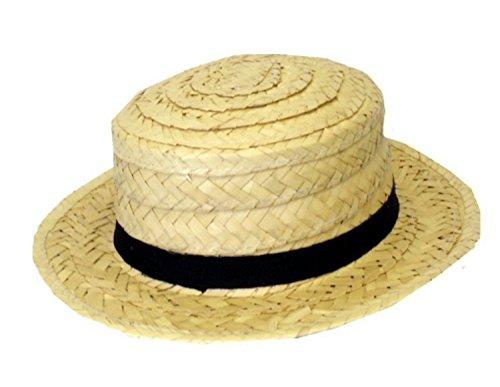 Trinians Fancy St Dress Kostüm - Star 55 School Straw Boater St Trinians Straw Hat Fancy Dress Costume Hat