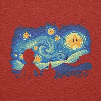 Texlab–Mario Stars Night–sacchetto di stoffa Rot