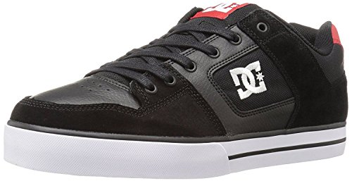 dc-pure-black-red-white-leather-mens-skate-trainers-shoes-11