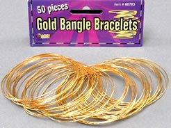 bristol-novelty-pulseras-finas-metalicas-50-unidades-color-dorado