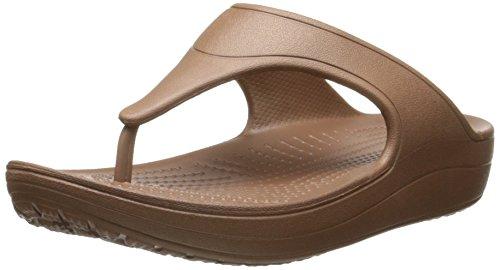 Crocs Sloane Platform, Sandales - Femme Bronze