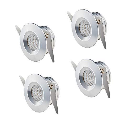 Yeehome - 4 focos pequeños de 3 W, empotrables, mini focos LED,...