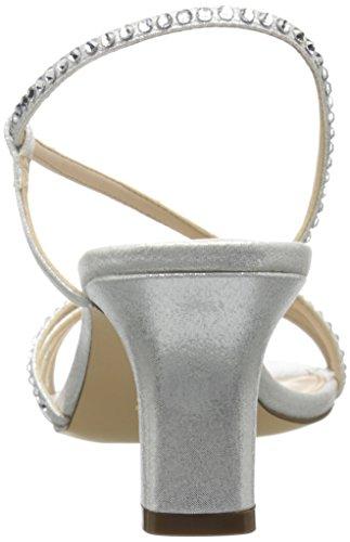 Nina Gerri Offener Spitze Textile Stöckelschuhe Silver Reflect