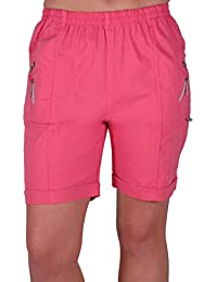 1cfc93278a Eyecatch - Womens Relaxed Comfort Elasticized Flexi Stretch Ladies Shorts  Plus Sizes
