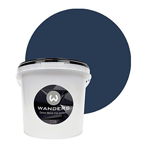 Wanders24 Tafelfarbe (3Liter, Mitternachtsblau) matte Wandfarbe in 20 Farbtönen erhältlich, individuelle Gestaltung für Zuhause, Farbe made in Germany (Blaue Tafel)