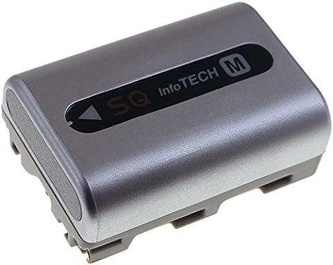 batterie compatible pour Sony DCR-TRV270E 1700mAh, Li-Ion, 7,2V, 12Wh, argent