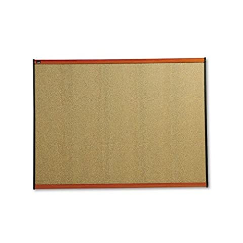 Prestige Bulletin Board, Graphite-Blend Cork, 48 x 36, Cherry Frame, Sold as 1 Each by Quartet