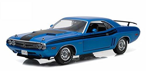 dodge-challenger-hemi-r-t-blu-1971-modello-di-automobile-modello-prefabbricato-greenlight-118-modell