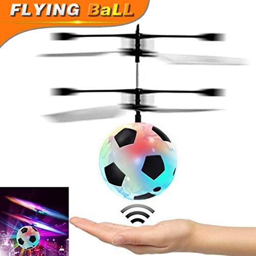 Kinderfliegen-Ball, RC-Fliegen-Spielzeug-Luft-Fußball mit geführtem leuchten Spielzeug Infrarotinduktions-Hubschrauber-Brummen Fallschirm-Jungen-Mädchen-Erwachsen-sich hin Neuheits Indoor Outdoor