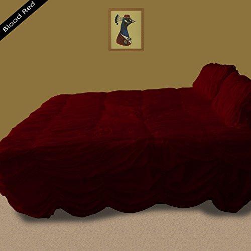 Noble Comfort Linen Luxuriöse Ultra, seidig 100% ägyptische Baumwolle 3geraffte Rüsche Bettbezug-Set, 1200TC Einzelbett Großbritannien Größe massiv Muster