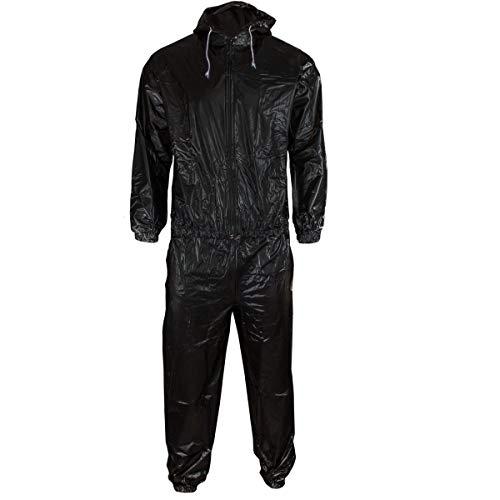 DerShogun Sauna Anzug aus schwarzem PVC Mit Kapuze M