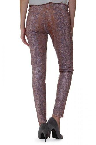 True Religion Damen Jeans Skinny Skinny Jeans Halle Super Skinny Legg Wash V2 SNKE TD TNL PK, Farbe: Lila, Größe: 29