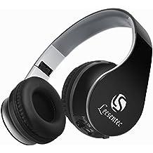 Leesentec T1 Auriculares inalámbricos Bluetooth, Over-oreja, Plegable con micrófono y batería de 20 horas de duración para deportes (negro)