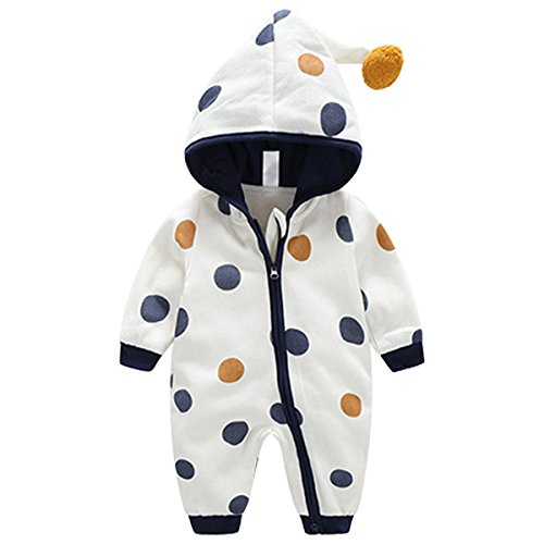Bebone Baby Kleidung Jungen Mädchen Strampler Neugeborenen Overall (Blau 2, 0-3Monate/52cm)