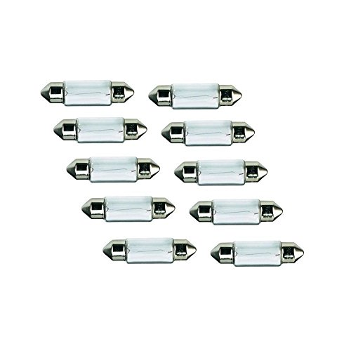 Preisvergleich Produktbild 10x Kummert Business Glühlampe Halogen C10W Soffitte 36mm 10W 12V PKW Innenraum,  Kennzeichenbeleuchtung