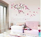 Wandaufkleber / Wandtattoo, Wanddekoration Sakura Flower