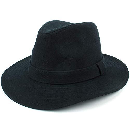 Hawkins Laine Fedora Chapeau Mou Chapeau avec Souple Bordure