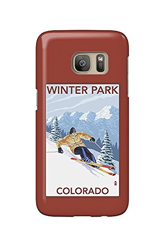 Winter Park, Colorado - Downhill Skier (Galaxy S7 Cell Phone Case, Slim Barely There) Downhill Parka