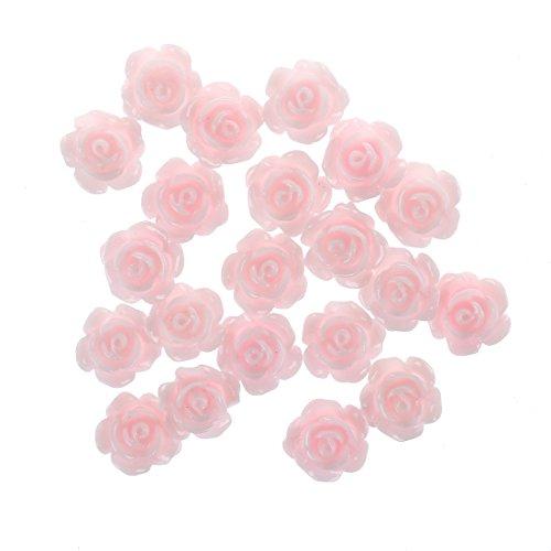 SODIAL(R) 20 x Faux rose 3D/ Decoration de cosmetique d'ongles