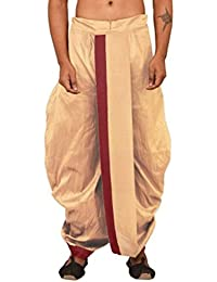 LARWA Solid Men's Readymade Dhoti Beige Special for Diwali