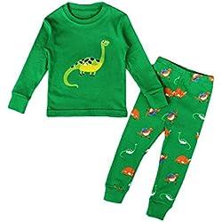 MIOIM® Ropa Conjunto De La Muchacha Niños Bebè Dinosaurio Ropa Pijamas Manga Larga + Pantalones Larga de Impreso Ropa de Dormir Para Navidad Halloween Fiesta