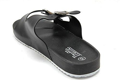 Mr Shoes, Sandali da donna, colore nero Nero (Nero - Nero)