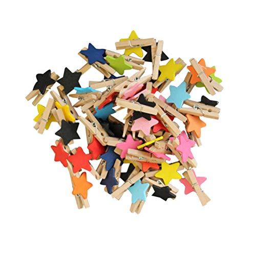 BESPORTBLE 100 STÜCKE Mini Holz Foto Bild Clips Papier Pins Hinweis Memo Karte Nachricht Clips Pegs Clamps Clothespins für DIY Handwerk