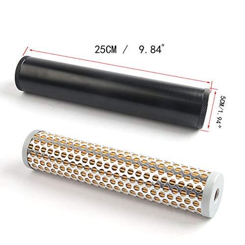 SayHia Billet Aluminium Low Profile für NAPA 4003 WIX 24003 Kraftstofffilter 1/2-1/2 '' - 28 B1 Billet Aluminium Turbo Luftfilter - Turbo Luftfilter