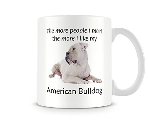 Behind The Glass I Like My American Bulldog – Printed Funny Dog Mug – Great Gift/Present Idea