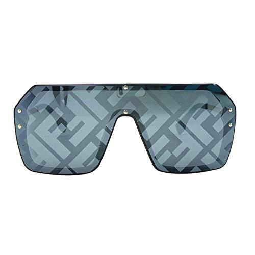 Banbie Sunglasses Big Box Square Einteilige Sonnenbrille Männer und Frauen mit der gleichen Persönlichkeit Mode Wild Face Sonnenbrillen