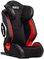 Sparco F1000Ki Child Seat Group 2+3 Red Isofix For Unisex