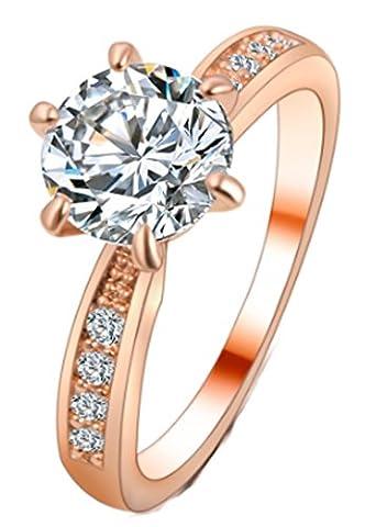 SaySure - Rings Wedding Jewelry Shinny Cubic Zirconia (SIZE : 7)