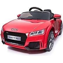 Audi TT RS 12v Licenciado con mando - Coche eléctrico para niños - Rojo