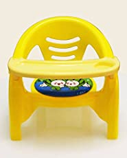 Akshat 2 in 1 Baby Premium toon Chair in red (Yellow)