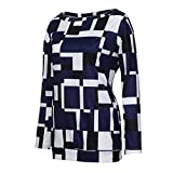 Beladla Abbigliamento Maglietta Elegante Casual Tops Blusa Camicetta da  Donna con Magliette Top Maniche Lunghe Bluse a99f7b3ee88a