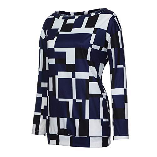 Beladla Abbigliamento Maglietta Elegante Casual Tops Blusa Camicetta da  Donna con Magliette Top Maniche Lunghe Bluse b3a38c99cde