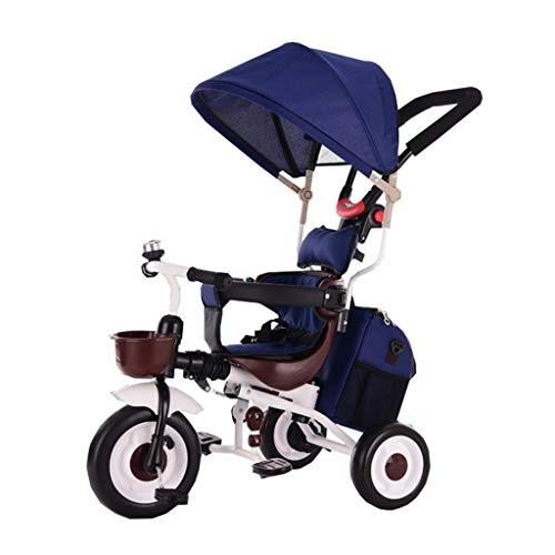 Le Tricycle Non-Gonflable de Tricycle d'enfants/Chariots de bébé Carriagel pour 6 Mois à 6 Ans Seat Peut Tourner avec l'auvent et Le Frein arrière