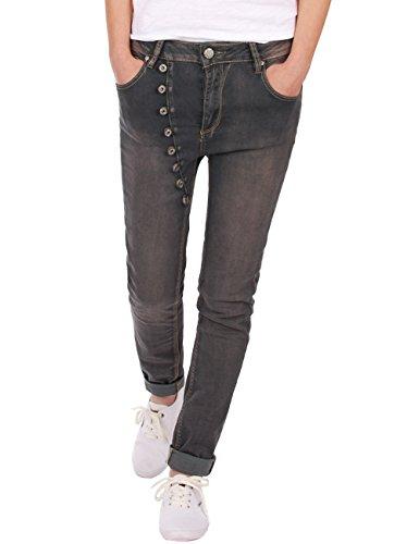 Fraternel Jeans Donna Cavallo Basso Baggy Grigio Taglia: IT:44 (Manufacturer's Size: 40)