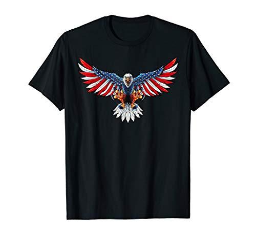 USA Flagge Bald Eagle mit amerikanischer Flagge T-Shirt