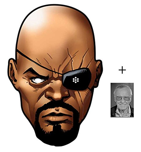 Nick Fury aus Marvel's The Avengers Single Karte Partei Gesichtsmasken (Maske) Enthält 6X4 (15X10Cm) starfoto