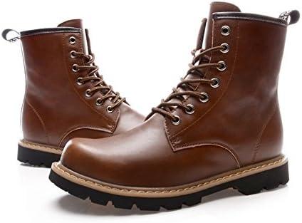 TMKOO Invierno nuevo Martin botas cuero hombres botas botas British algodón cálido botas herramientas botas zapatos...
