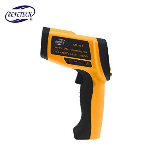 Yangge Yujum Digital termómetro de Infrarrojos sin Contacto Termómetro IR Tester Rango Benetech GM1651...