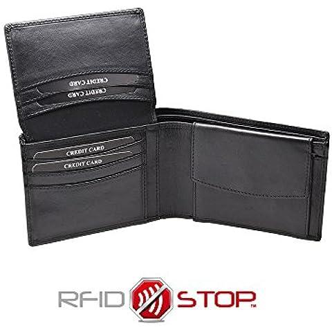 KORUMA RFID / NFC BLOCCO MINI WALLET, Portafoglio uomo - Pelle al Vegetale (KIT-62SNBL)