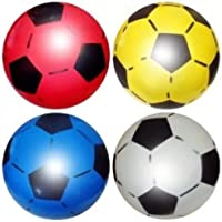 "SourceDIY PVC Sports Shoot Football 25CM or 8.5"" (Deflated) Party Filler, Suitable for (Pack of 4)"