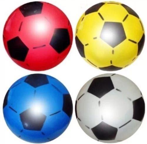 Pelotas de fútbol hechas de PVC, 22,5 cm de diámetro desinfladas, ideales para llenar bolsas de fiesta y como juguete infantil, paquete de 12 unidades Aptas para uso en interior, exterior, en escuelas, fiestas de cumpleaños, eventos escolares y también eventos de caridad. Disponibles en distintos colores. Producto de SourceDIY. - varios - 12 Balls